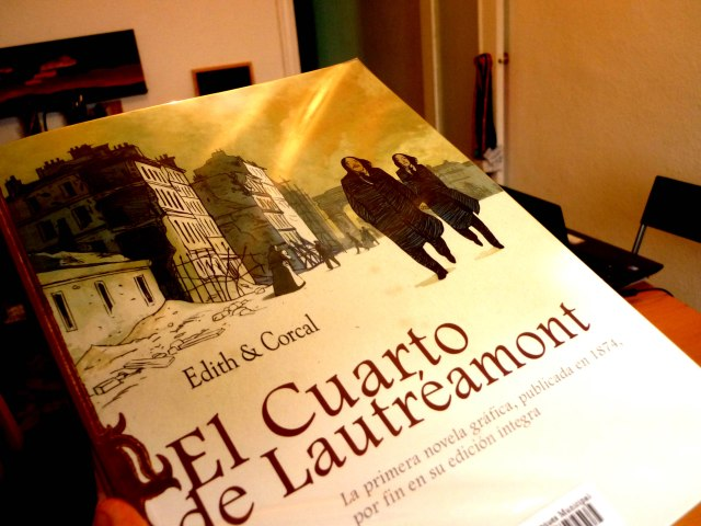 el cuarto de Lautréamont - novela gráfica