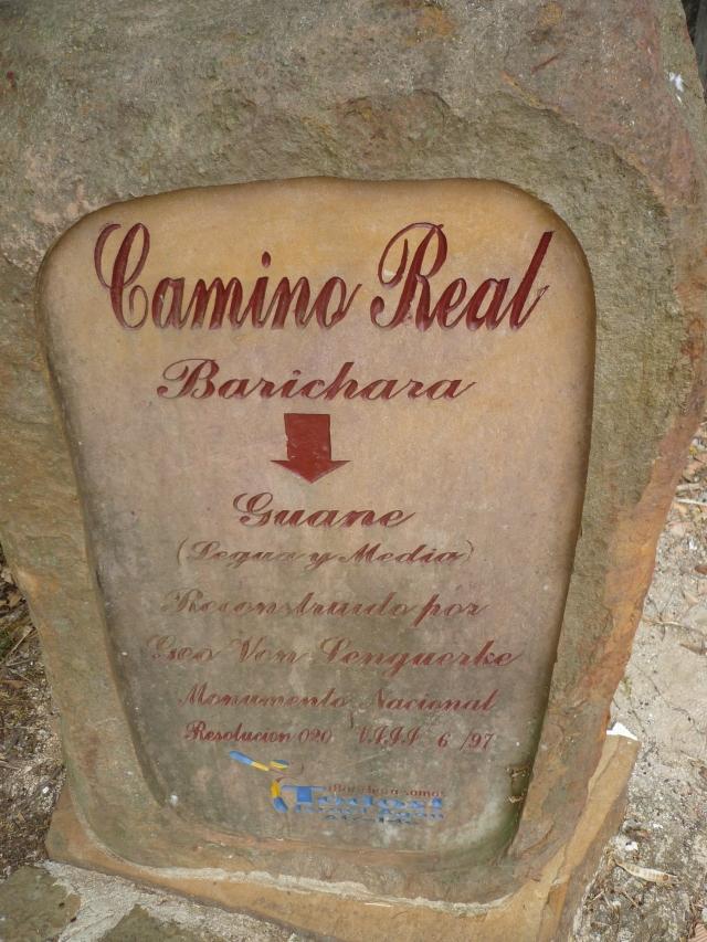 camino real barichara a Guane